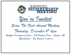 Annual Membership Meeting @ Workforce Development Center | Clayton | North Carolina | United States