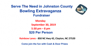 Bowling Extravaganza – Sept. 30 at Rainbow Lanes Clayton @ Rainbow Lanes Clayton | Clayton | North Carolina | United States