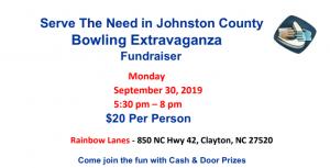 Bowling Extravaganza – Sept. 30 at Rainbow Lanes Clayton @ Rainbow Lanes Clayton   Clayton   North Carolina   United States